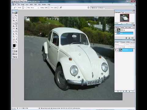 How to change color on a car in Photoshop