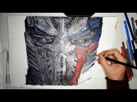 Transformers Prime Optimus Prime Dragon Ver Speed Draw