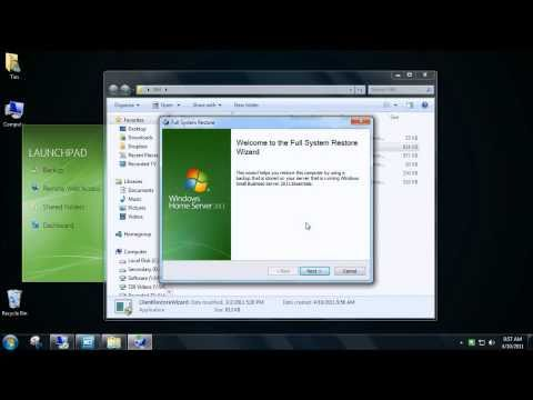 Windows Home Server 2011 - Client Restore Wizard