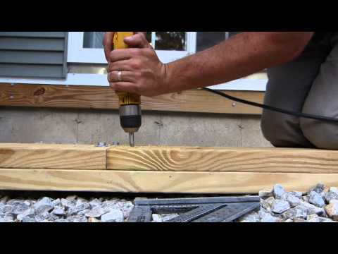 Deck Building Highlights - part 3 - Main beam and joists