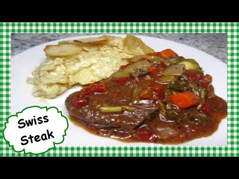 Easy Slow Cooker SWISS STEAK ~ Homemade Swiss Steak Crock Pot Recipe