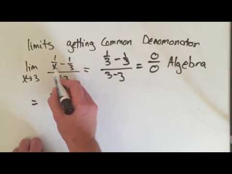 Limits: Getting a Common Denominator (2 Minutes)