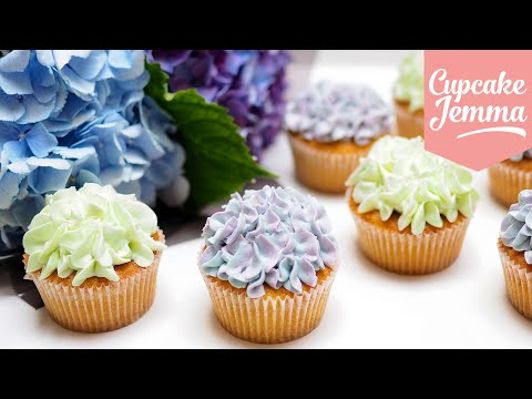 Hydrangea cupcake decoration tips & techniques | Cupcake Jemma