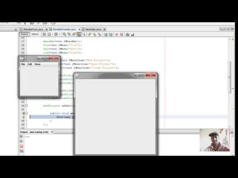 Java Swing Tutorial 20 - How to open a new JFrame on Clicking a ButtonJMenuItem)