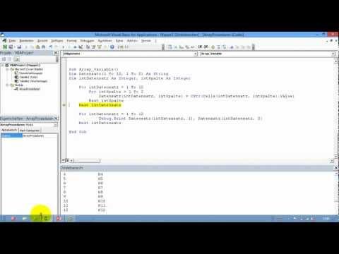 Excel # 342 - VBA Array-Variablen