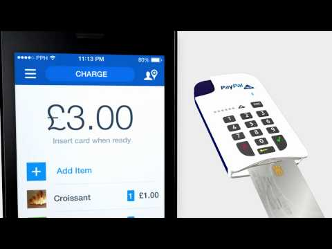 PayPal Here - How to take Chip and PIN card payments