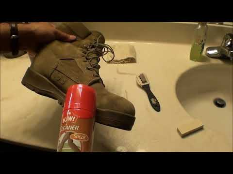 Boot Suede Leather Cleaning