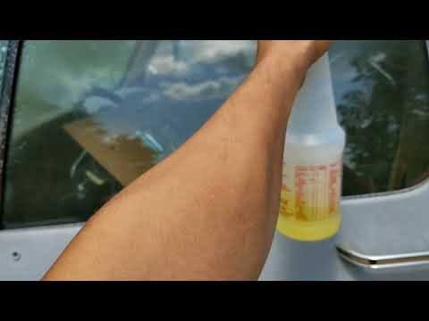 How to overspray off ur windows