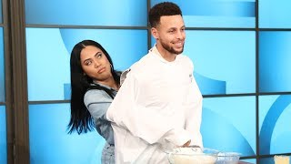Steph & Ayesha Curry Get Cooking in the Kitchen