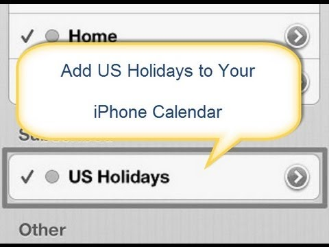 How to Add US Holidays to iPhone Calendar
