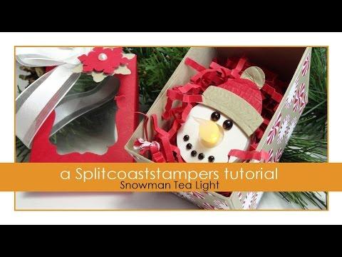 Snowman Tea Light