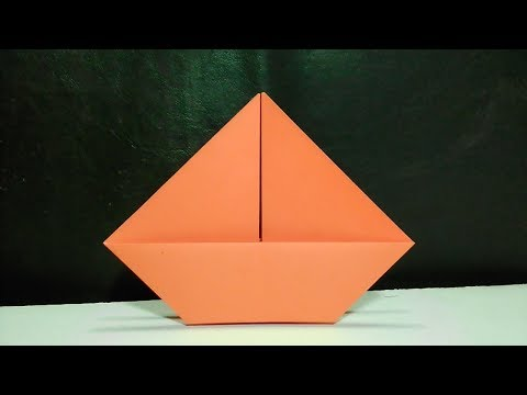 How to make a very simple paper boat | Paper Craft | Kid's Origami