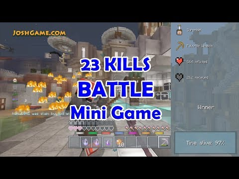 23 KILLS Hunger Games Battle Mini Game (Minecraft Wii U - Parkour City Map)