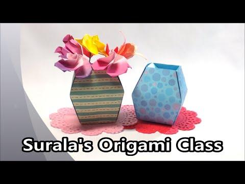 Origami - Vase (flower pot)