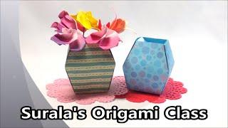 Origami Vase Flower Pot