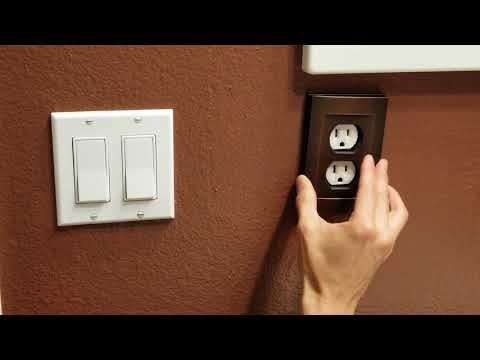 Remove Old Switch & Outlet Plate with Magnetic Bronze Plates! 5 20 18