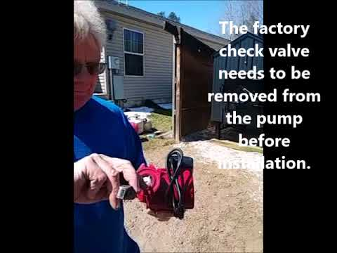 Water pump check valve removal