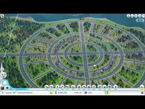 SimCity (5 or 2013?) Playing Sandbox Mode GAMEPLAY ONLY