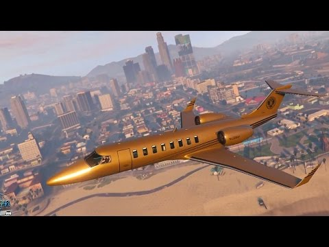 Grand Theft Auto 5 Multiplayer - $10 MILLION GOLD JET! (GTA Online Luxor Deluxe DLC)