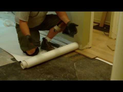 Leveling Subfloor Before Wood Floor Installation Using Asphalt Shingles and Roofing Felt