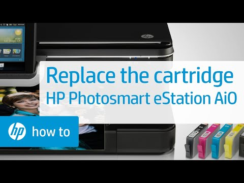 Replacing a Cartridge - HP Photosmart eStation All-in-One Printer (C510a)