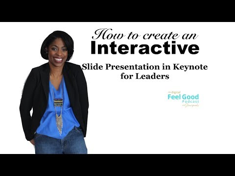 How to create interactive/ awesome slide presentations in Keynote for MAC