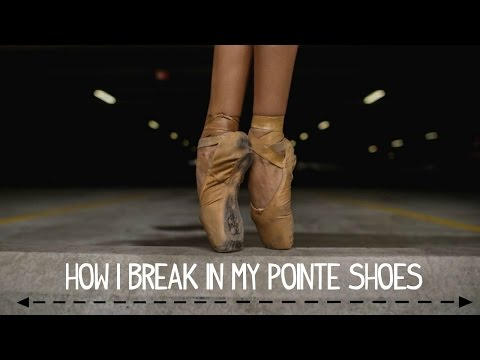 How I Break in my Pointe Shoes | Alison Stroming