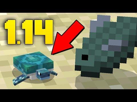 NEW TURTLES! Minecraft 1.14 Mob News Update