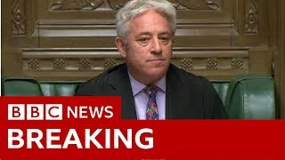 Brexit deal vote ruled out by Speaker John Bercow - BBC News