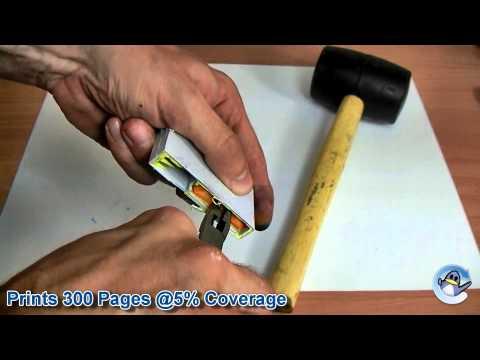 Inside HP 364 (CB320EE) Yellow Ink Cartridge
