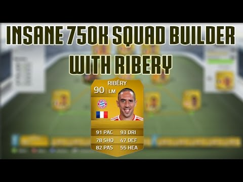 An insane 750k squad builder with Ribery-Fifa 14