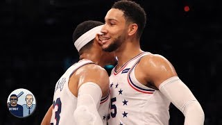 Ben Simmons is hitting 3s according to Tobias Harris   Jalen & Jacoby
