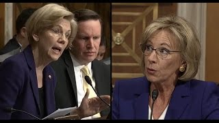 Elizabeth Warren Questions Betsy Devos   ABC News