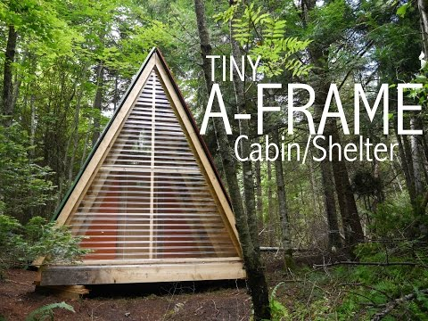 A TINY A-FRAME cabin/shelter in the woods of Vermont… (tiny house)