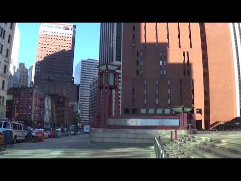 Battery Park and Buildings in Lower Manhattan