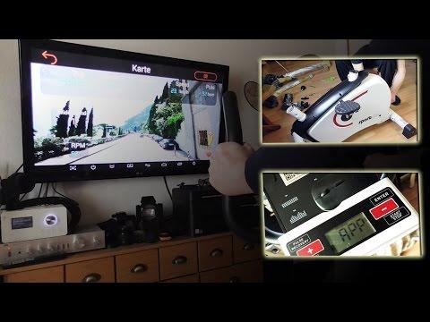 Sportplus Ergometer via Bluetooth App und Google Streetview unterwegs