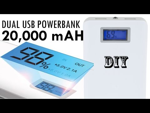 Build your own 20,000+ mAH DIY portable USB Power Bank Charger for just $10!