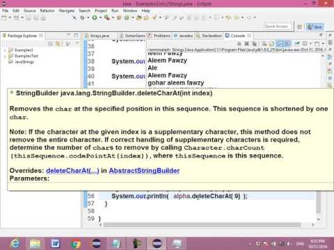 41 JavaCourse OCA 1Z0 808 Core Java API  StringBuilder ClassConverted