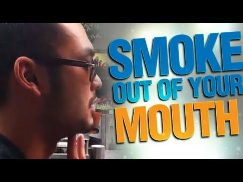 Cool Street Magic : Smoke Out Of Your Mouth Trick By Petey
