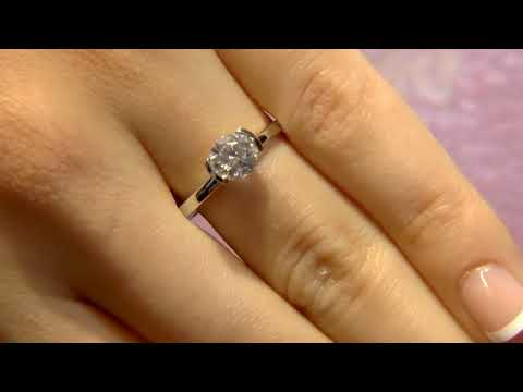 SR1057 0.80 Carat Half Bezel Solitaire Diamond Engagement Ring