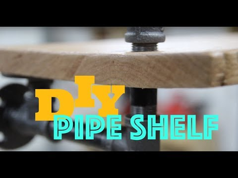DIY Pipe Shelf - How To Woodworking