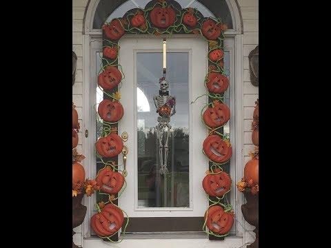 How to make Halloween pumpkin door arch