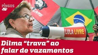 Dilma entra em pane ao falar de hackers