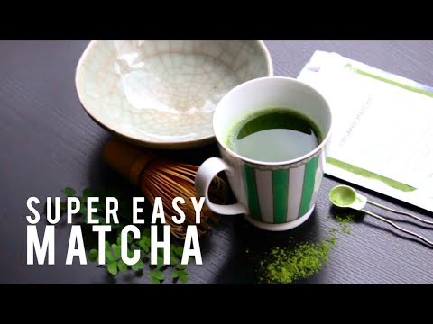 How to make matcha green tea without tea sets!