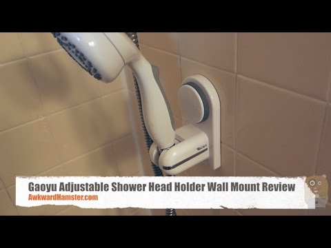 Gaoyu Adjustable Shower Head Holder Wall Mount Review