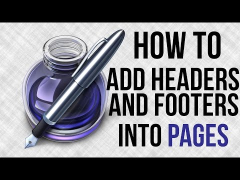 How To Add Headers and Footers in Apple's Pages