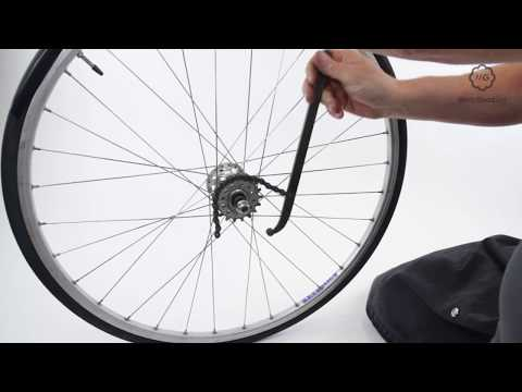 Mount A Bike Wheel's Fixed Sprocket