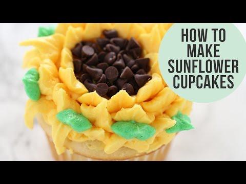 How to Make Sunflower Cupcakes (THREE Ways!)