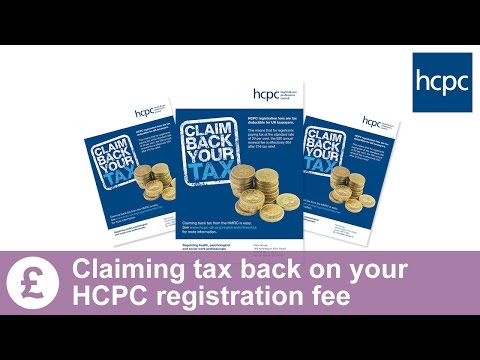 How to claim your tax back on your HCPC registration fees