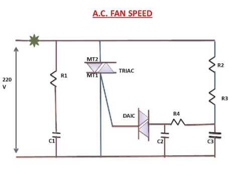 FAN SPEED CONTROL CIRCUIT(EXPLANATION)